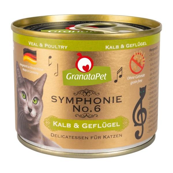 GranataPet Symphonie No. 6 Kalb & Geflügel 6x200g