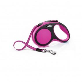 flexi New Comfort samonavíjecí vodítko, růžové, 5 m, S