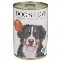 Dog's Love Futter Bio Rind mit Reis, Apfel & Zucchini