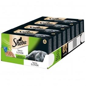 Sheba Katzenfutter Sauce Lover Multipack (MSC) Mega Pack 32x85g