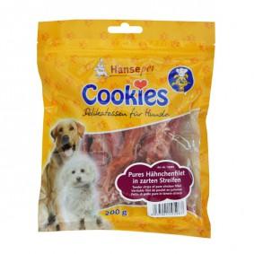 Hansepet Hundesnack Cookies Delikatess-Hähnchenfiletstreifen 200 g