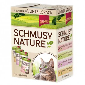 Schmusy Nature Menü Pouch Multipack 12x100g