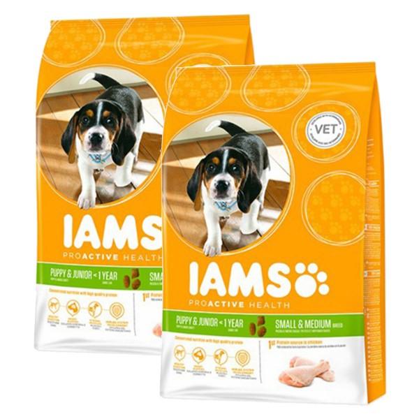 IAMS Hund Puppy & Junior Kleine & Mittelgroße Rassen Huhn 2x12kg