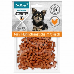 ZooRoyal Individual care Mini Hühnchensticks mit Fisch