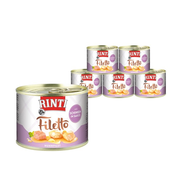 Rinti Hundesnack Filetto Huhn & Schinken in Sauce 210g
