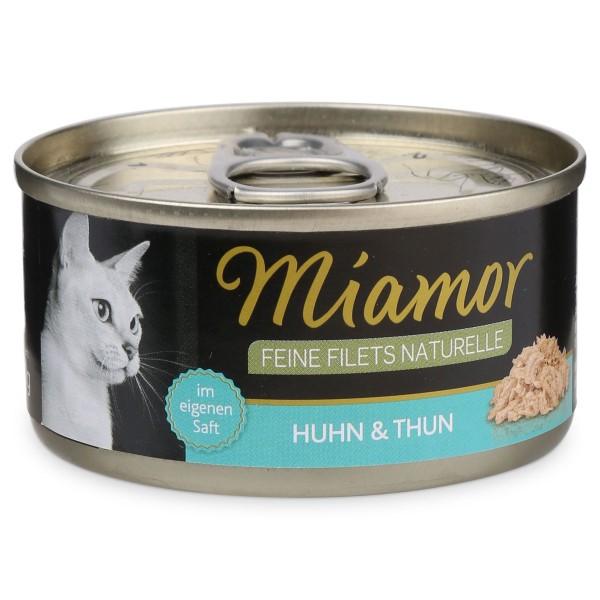 MIAMOR Feine Filets Naturelle Huhn & Thunfisch