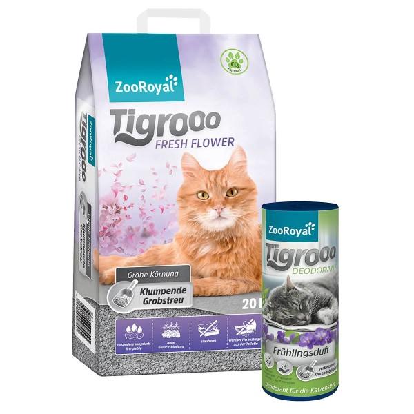 ZooRoyal Tigrooo Fresh Flower 20L mit Deodorant Frühlingsduft 700g