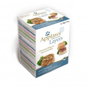 Applaws Cat Layer multipack mix, 6 x 70 g