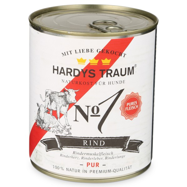 Hardys Traum Nassfutter Pur No. 1 Rind