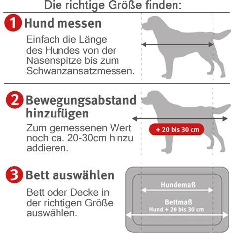Knuffelwuff Hundebett Dreamline XXXL 155x105cm