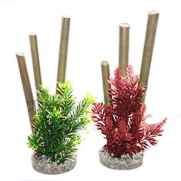 Plantes artificielles pour aquarium Bamboo Forest Plants - Forêt de bambous