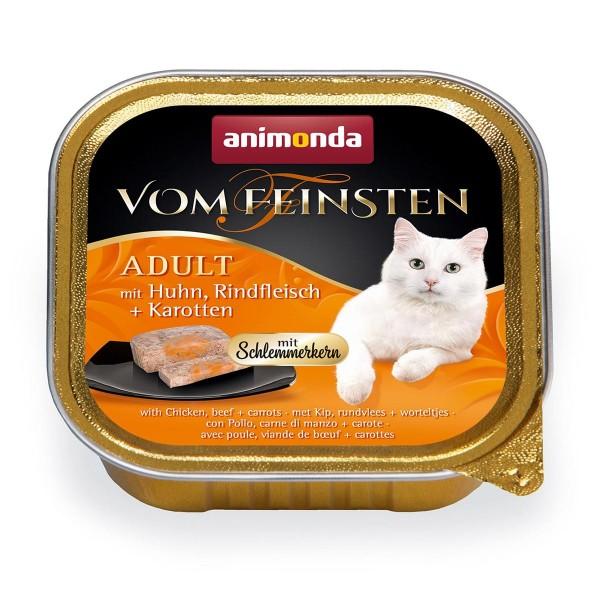 Animonda Vom Feinsten Adult Schlemmerkern mit Huhn, Rindfleisch + Karotten 6x100 g