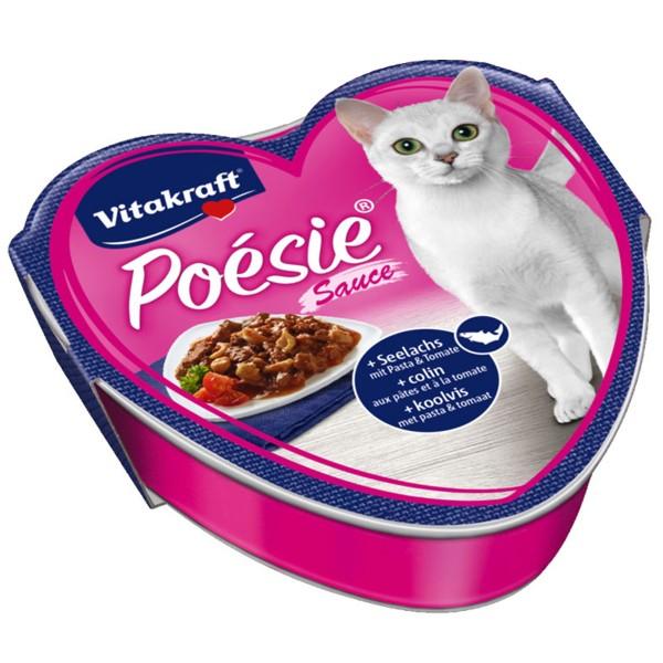 Vitakraft Katzenfutter Poésie Sauce mit Seelachs und Tomate