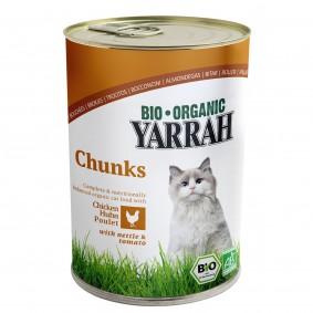 Yarrah Katzenfutter Bio Bröckchen Huhn 12x405g