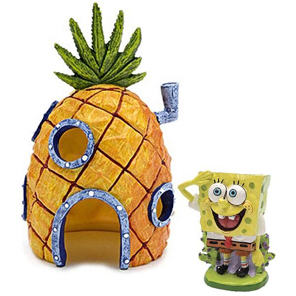 Spongebob Squarepants Spongebob Set - Spongebob Schwammkopf mit Ananas Haus