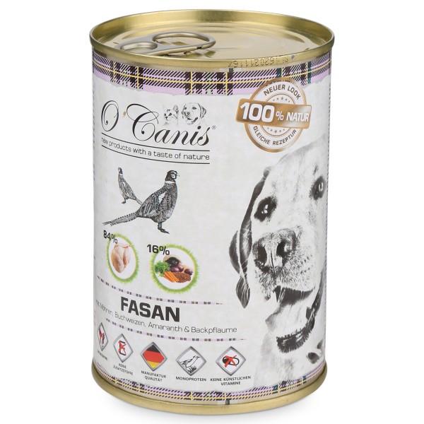O'Canis Hundefutter Fasan mit Möhren, Buchweizen, Amarant und Backpflaumen