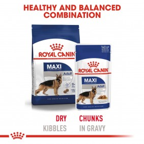 ROYAL CANIN Maxi Adult 4kg + Maxi Adult in Soße 10x140g