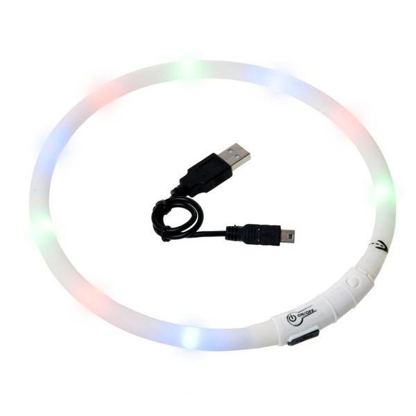 Karlie Visio Light LED Leuchthalsband - Weiß