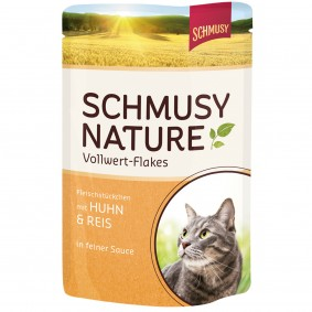 Schmusy Nature Vollwert-Flakes Huhn & Reis 22x100g