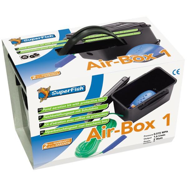 SuperFish Teichbelüftungs-Set Air-Box 1