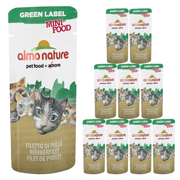 Almo Nature Katzenfutter Green Label Mini Food Wet 10x3g