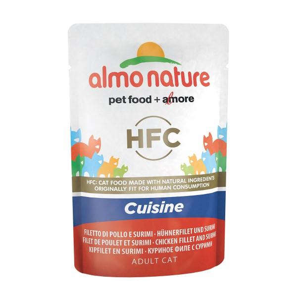 Almo Nature HFC Cuisine Hühnerfilet und Surimi