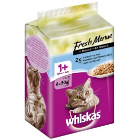 Whiskas Adult 1+ Fresh Menue in Sauce Fisch 6x50g