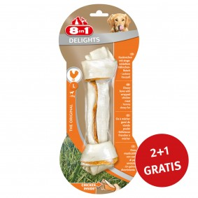 8in1 Delights Kauknochen Chicken/Huhn  L 1 Stück 2+1 GRATIS