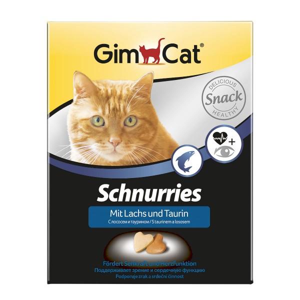 GimCat Katzensnacks Schnurries Lachs und Taurin