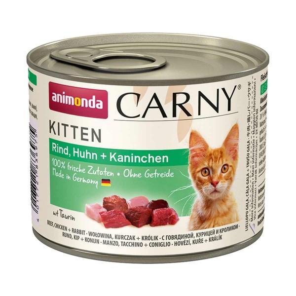 Animonda Katzenfutter Carny Kitten Rind, Huhn und Kaninchen