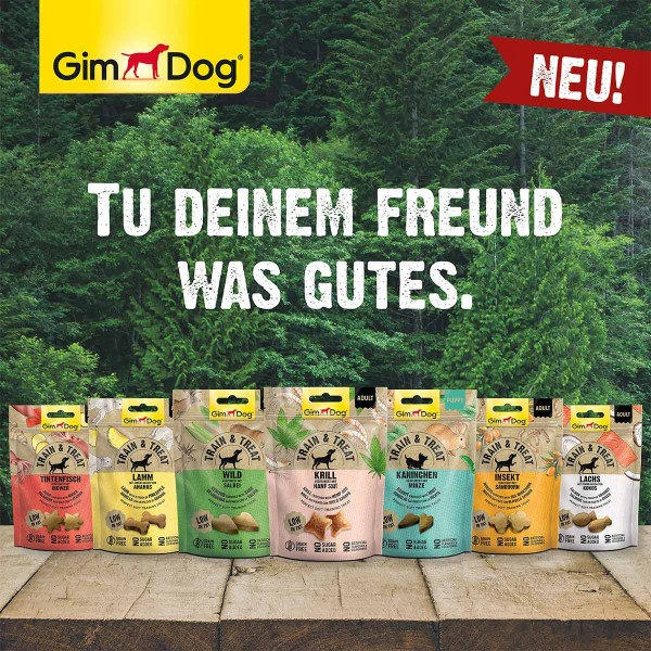 GimDog Train & Treat mit Lamm und Ananas