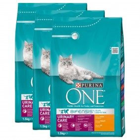 Purina One Bifensis Urinary Care kuřecí, 3 x 1,5 kg