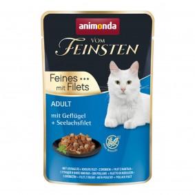 Animonda Vom Feinsten Adult Feine Filets mit Geflügel und Seelachsfilet