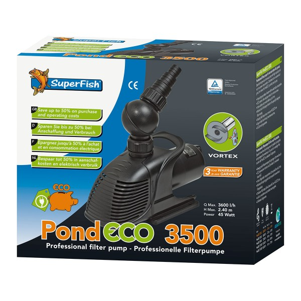 SuperFish Pond ECO Synchron-Teichpumpe 45W-175Watt Eco 8000