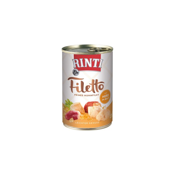 Rinti Hundefutter Filetto Huhn & Herz in Jelly 420g