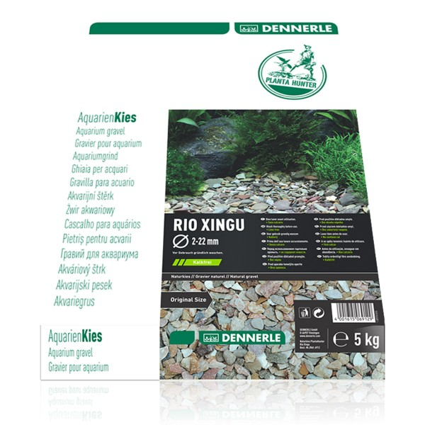 Dennerle Naturkies Plantahunter Rio Xingu MIX 2-22mm 5kg