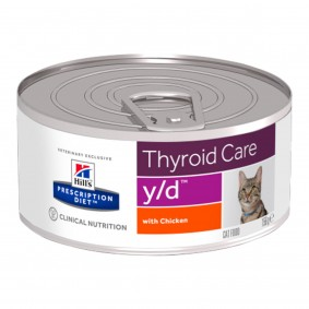 Hill's Prescription Diet y/d Thyroid Care Katzenfutter Original 10+2 Ds GRATIS