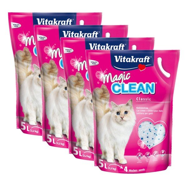 Vitakraft Magic Clean Katzenstreu 4x5l