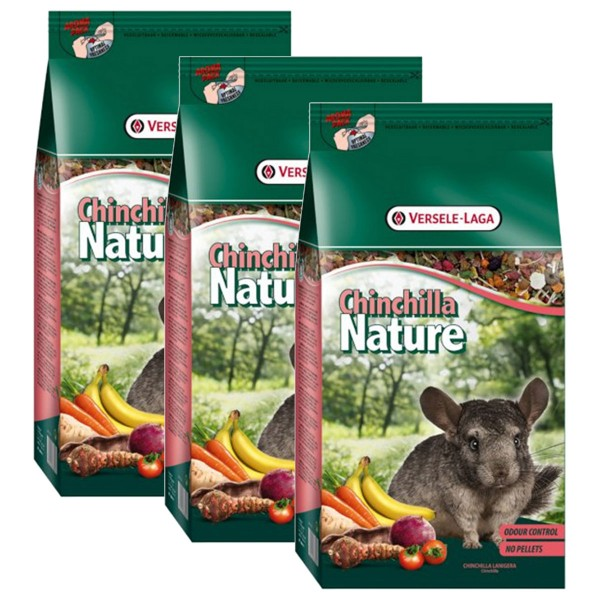 Versele Laga Nagerfutter Premium Chinchilla Nature 3x10kg