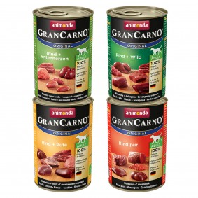 Animonda Gran Carno - Aliment pour chiens mélange 12 x 400 g