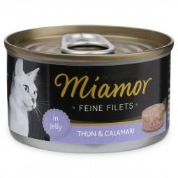 Miamor Katzenfutter Feine Filets in Jelly Thunfisch und Calamari