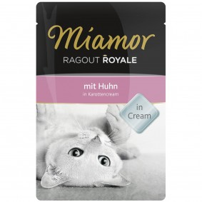 Miamor Ragout Royale Huhn in Karottencream 100g Frischebeutel