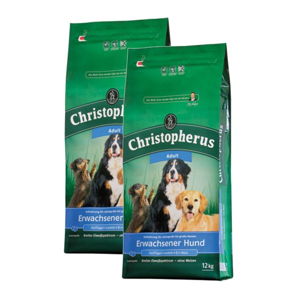 Christopherus Hundefutter verschiedene Sorten 2x12kg