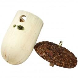 dobar Nistkasten Eichel mit Rindendach aus Kiefer