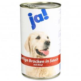 Ja! Hundefutter mit Rind in Sauce