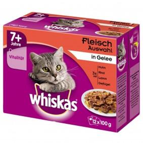 Whiskas 7+ Fleischauswahl in Gelee Multipack 12x100g