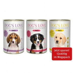 Dog's Love Junior Mischpaket 12x400g