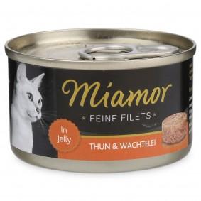 Miamor Katzenfutter Feine Filets in Jelly Thunfisch und Wachtelei