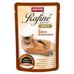 Animonda Katzenfutter Rafiné Soupé Adult mit Kalb in Bratensauce