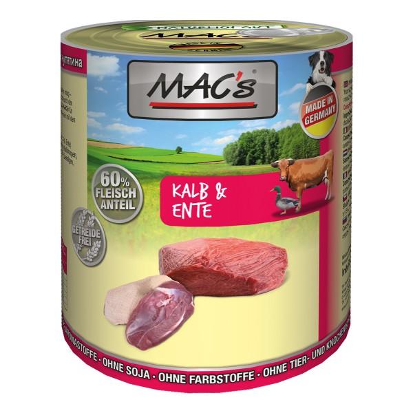 MAC's Dog Hunde-Nassfutter Kalb und Ente